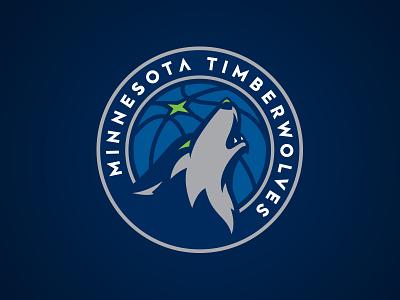 Minnesota Timberwolves north star howl nba logo wolf circle timberwolves basketball minnesota athletics