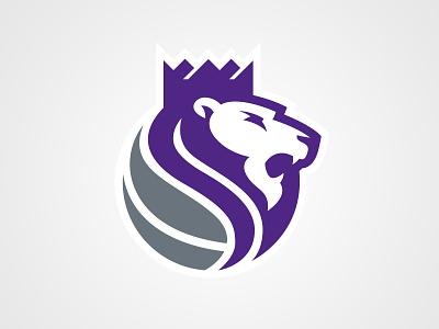 Sacramento Kings Secondary lion sacramento nba logo kings crown basketball athletics
