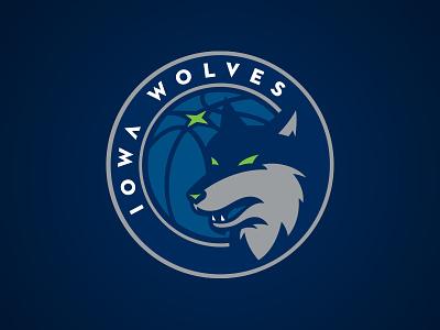Iowa Wolves wolf wolves north star g league nba minnesota logo iowa circle basketball athletics