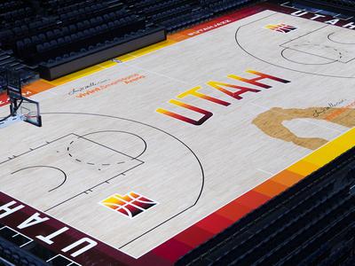 Utah Jazz City Edition Court