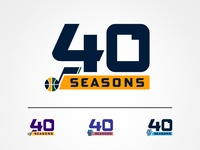 Utah Jazz 40 Seasons Logo