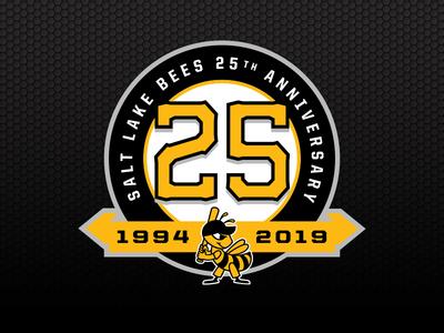 Salt Lake Bees 25th Anniversary Logo
