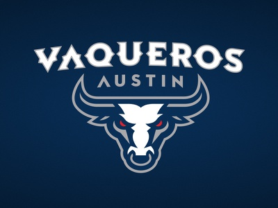 Austin Vaqueros sports ligature star badge bull texas austin fantasy basketball atheltics