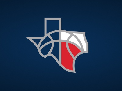 Austin Vaqueros Tertiary fantasy flag texas sports basketball athletics logo
