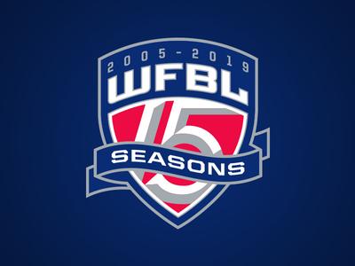 WFBL 15 Seasons Logo