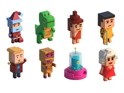 3D characters for isometric game isometric 3d characters 3d art game design game art game design concept art concept chatacters
