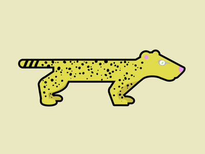 Cheetah Video Game Character animal character video game run rebound weekly warm up illustration design video game character cheetah