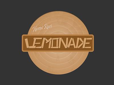 Home Run Lemonade Logo baseball summer lemonade lemonade stand brand identity rebound weekly warmup