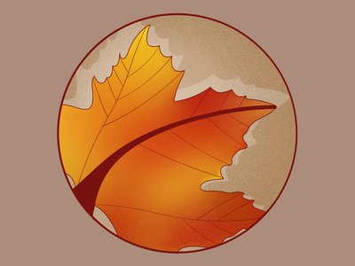 Fall Badge weekly warmup leaf leaf badge fall season season badge fall badge