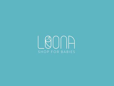 Loona Logo Design baby brand design logo design