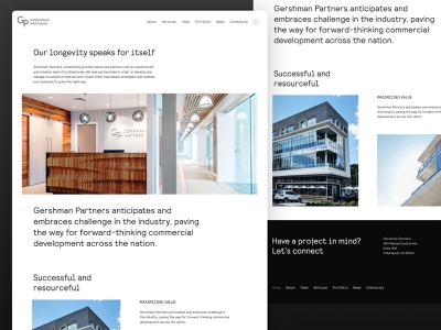 Minimalist Site Design contrast light white clean modern corporate builders architecture minimal