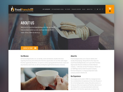 WIP Franchise Company franchise web design about landing page