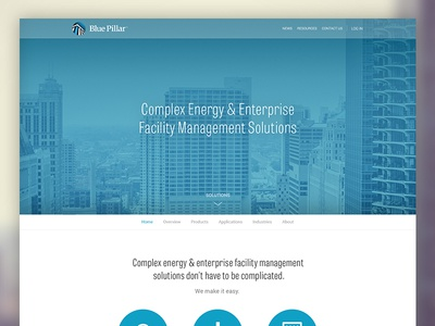 WIP energy corporation solutions blue minimal