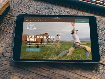 Big Sky Yoga Website mobile responsive rejuvenate equine horse riding horses resort mountains web design retreats yoga