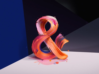 The New Republic - Ampersand typography symbols magazines editorial type color paint colorful geometry expressive