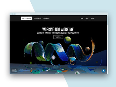 Working Not Working visual colour painted painterly paint colorful color professional freelance web splashpage abstract