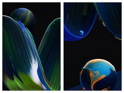 WnW Colors freelance mixedmedia digital painted acrylic paint texture details detail colors color