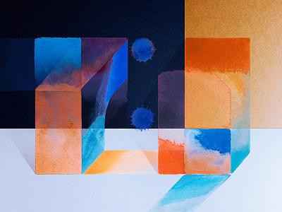Material minimal artwork art photoshop paint texture colors color experiment watercolor