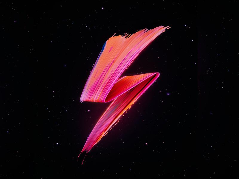 David Bowie: 1947 - ∞ inspiration color paint space retro fanart tribute icon logo stardust bowie davidbowie