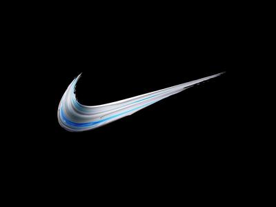 Nike Color Rush Swoosh Dribbble sport color cinema4d 3d paint minimal swoosh logo pattern basketball sportswear nike