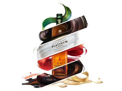 Johnnie Walker x Pawel Nolbert – Limited Artist Edition illustration design packagingdesign packaging liquor alcohol johnniewalker painted paint colorful whiskey whisky