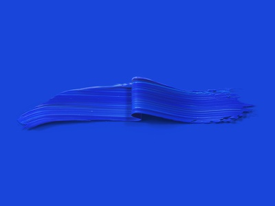 Blue minimal painted 3dpaint abstract paint cobalt monochromatic mono blues blue