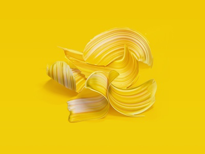 Yellow is Always a Good Idea cinema4d illustration creativity monday inspiration minimal colorful color paint abstract yellow