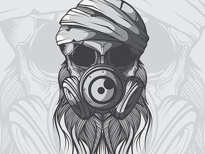 VECTOR SKULL HEAD skull design doodle character vector illustration art