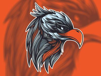 Eagle Head design graffiti doodle character vector illustration art