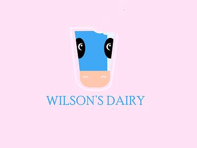 Wilson's Dairy graphic design dairy milk logo