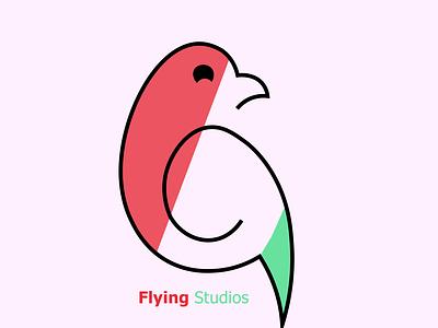 Bird Logo studios flying graphic design logo bird