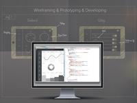 Wireframing - Prototyping - Developing