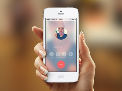Call App mobile call phone app button icon ui ux blur flat