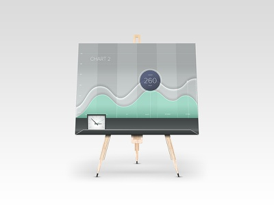 Illustration Flip Chart easel wood wave clock chart flip chart whiteboard