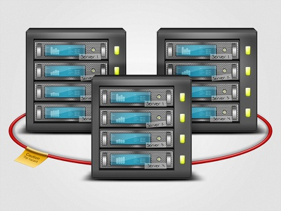Cluster server cluster farm illustration photoshop cable computer