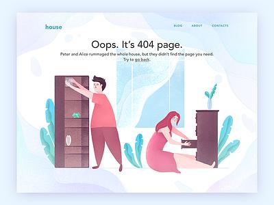 Page 404 web illustration dailyui008 008 dailyui 404
