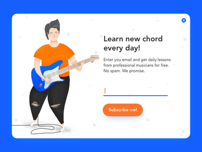Popup: Daily UI 016 dailyui016 dailyui illustration ui subscribe email guitar ads popup