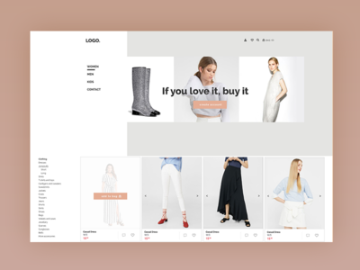 Second Hand Fashion Store with various sellers Landing Page