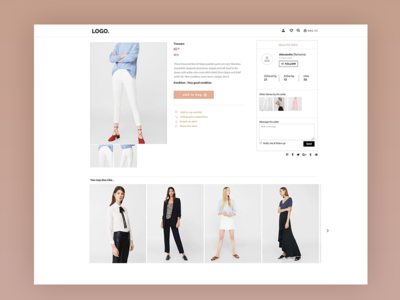 Second Hand Fashion Store with various sellers product pages