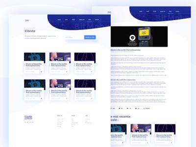 Bit Mahavi Cryptocurrency platform - blog and Blog Post pages