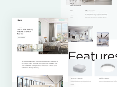 Ambient rooms ux web ui design