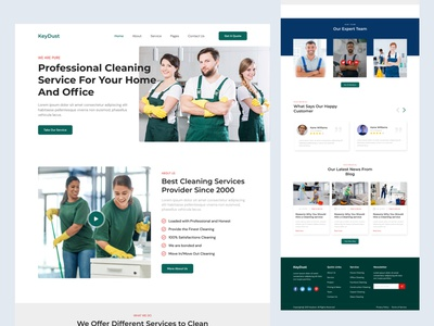 Cleaning & Service Website Landing Page branding logo animation user experience design service landing page ui ux design cleaning website service website landing page design user interface design ui design website design ux design web design ux graphic design ui cleaning  service landing page cleaning  service website