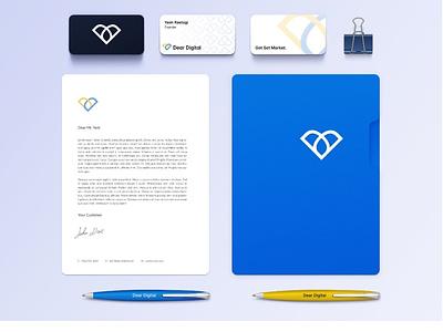 Dear Digital Logo and Brand Identity playful logo minimalistic logo clean logo digital marketing logo digital brand design process logo design modern design logo process theme digital modern clean logo branding