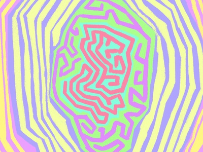 just somethin funky busy funky acid 70s psychadelic neon illustration digital colourful