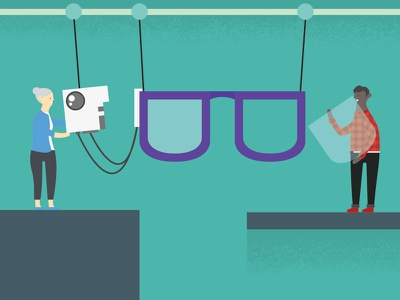 Google Rapid Prototyping redesign google glass illustration google