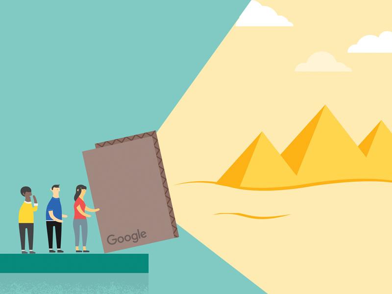 Google Cardboard illustration pyramid cardboard google illustation