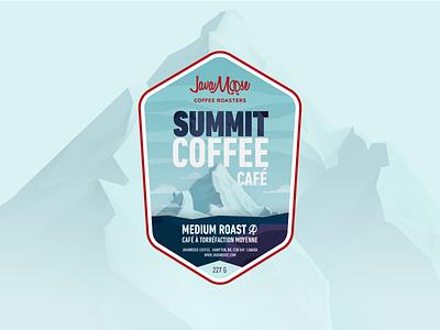 JavaMoose Summit Coffee label mount everest packaging coffee