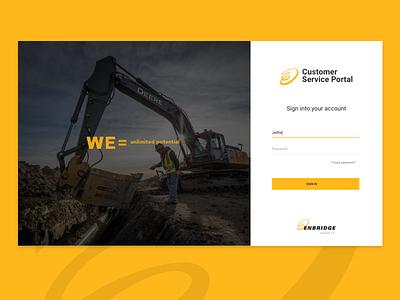 Customer Service Portal web ui dashboard ux-ui uidesign web 3.0 login development web design enbridge ux designer ux ui design