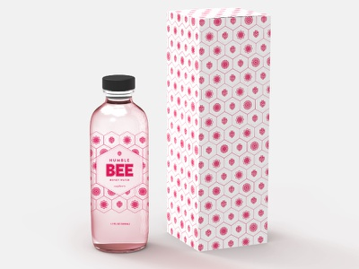 Humble Bee Raspberry Honey Water brand illustration packagedesign package