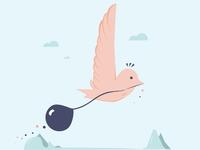 Little Bird, balloon series #1